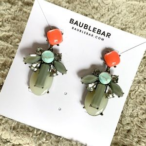 BAUBLEBAR Coral & Turquoise Statement Earring